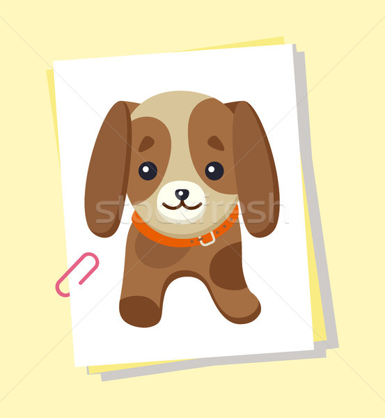Dachshund Picture Poster, Vector Illustration Stock photo © robuart