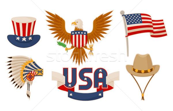 USA tárgyak gyűjtemény amerikai kultúra sport sisak Stock fotó © robuart