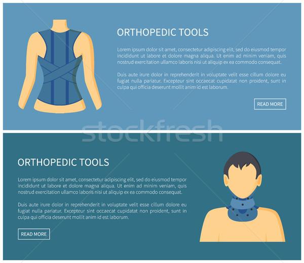 Ortopedico strumenti raccolta banner colorato Foto d'archivio © robuart