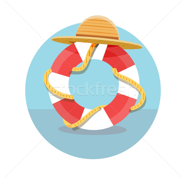 Blanco rojo cuerda sombrero icono Foto stock © robuart