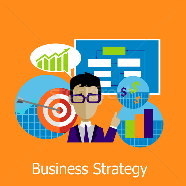Estrategia de negocios diseno estilo negocios plan estrategia Foto stock © robuart