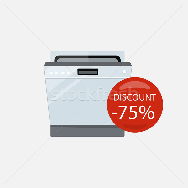 Sale of Household Appliances Dishwasher Machine Stock photo © robuart