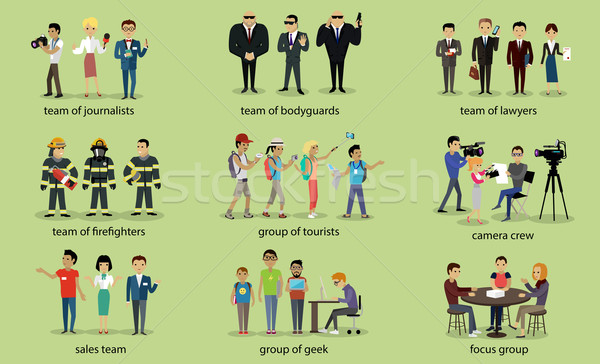 Different Groups of People Firefighter Lawyers Stock photo © robuart