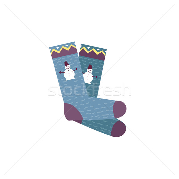 Coloré chaussettes paire femme homme design Photo stock © robuart
