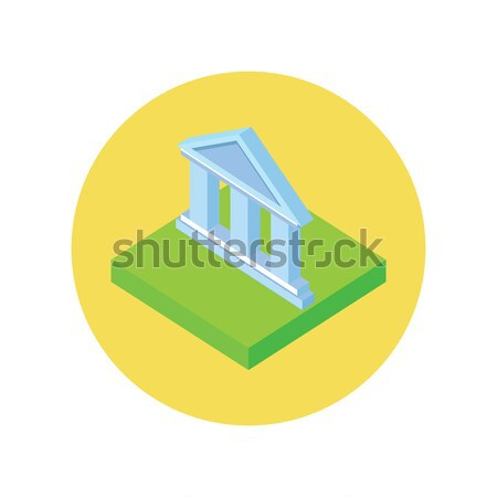 Stock photo: Isometric Bank Office Icon
