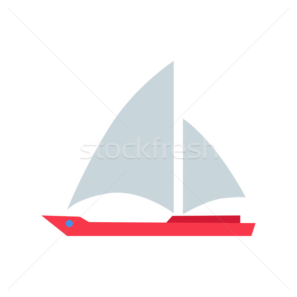 Red Boat with White Sails Stock photo © robuart