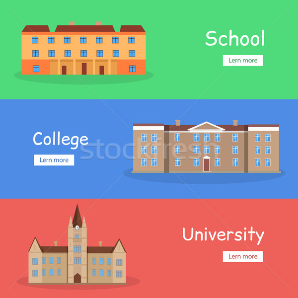 Set of School, College and University Banners Stock photo © robuart