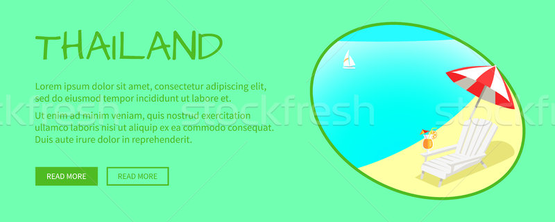 Thailand Touristic Flat Style Vector Web Banner Stock photo © robuart