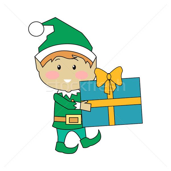 Stockfoto: Fairy · christmas · presenteert · ontwerp · vector · grappig