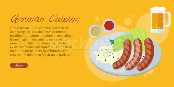 Cuisine design vecteur web bannière grillés Photo stock © robuart