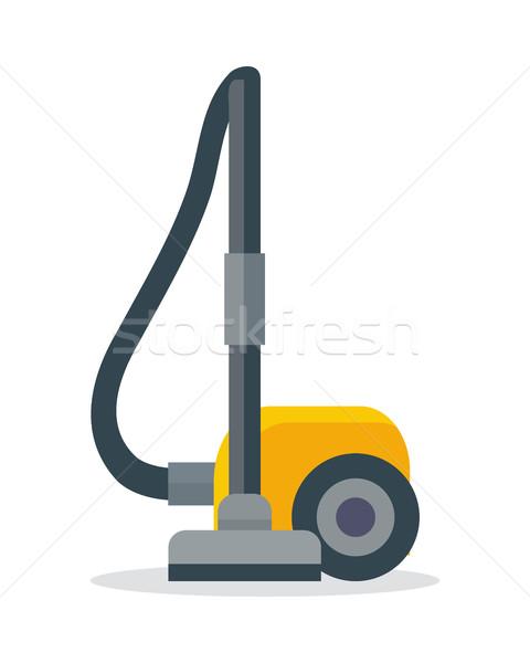 пылесос икона изолированный белый электрические оборудование Сток-фото © robuart