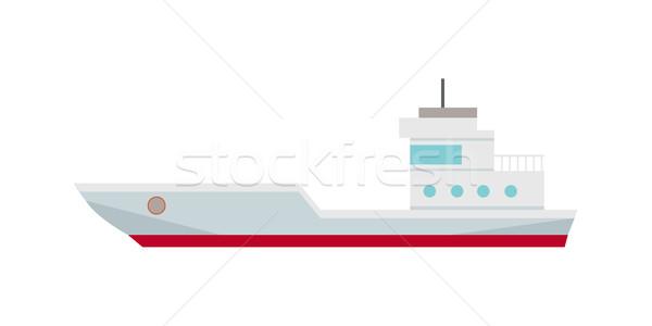 Comercial navio porta-contentores cargueiro ícone logística transporte Foto stock © robuart