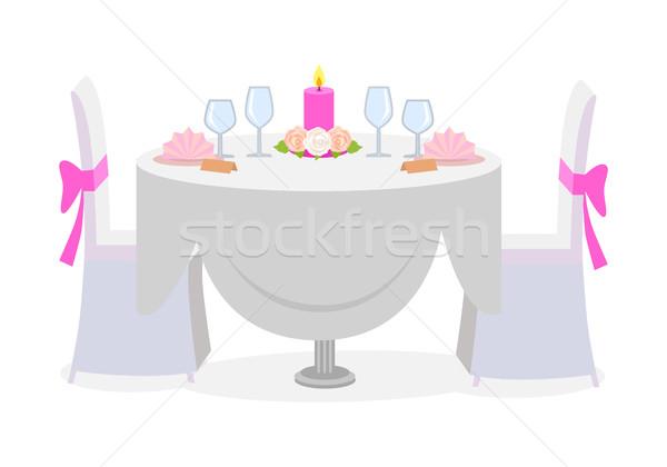 свадьба таблице служивший роскошь пластин Сток-фото © robuart