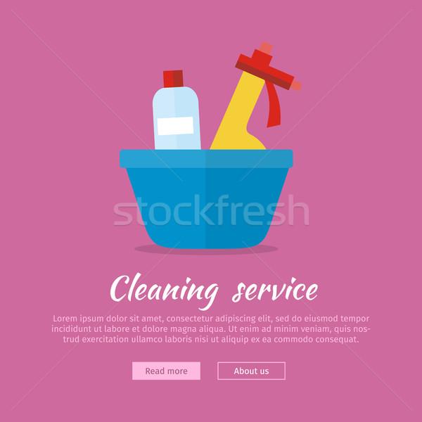 Lavagem vidro limpar substância limpador assinar Foto stock © robuart