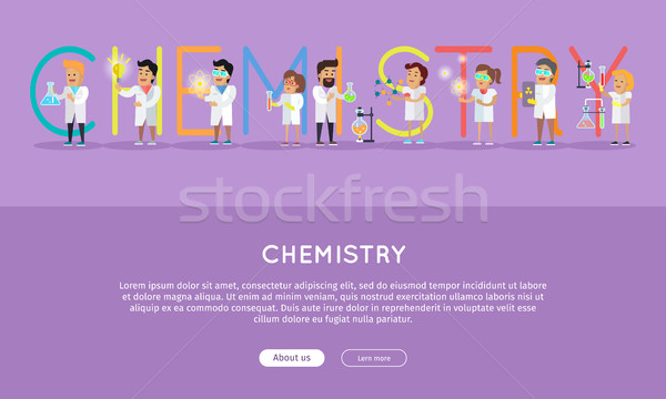 Stock photo: Chemistry Conceptual Flat Style Vector Web Banner