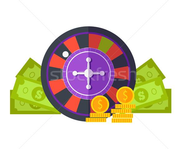 Hazardu projektu wektora stylu ruletka Zdjęcia stock © robuart