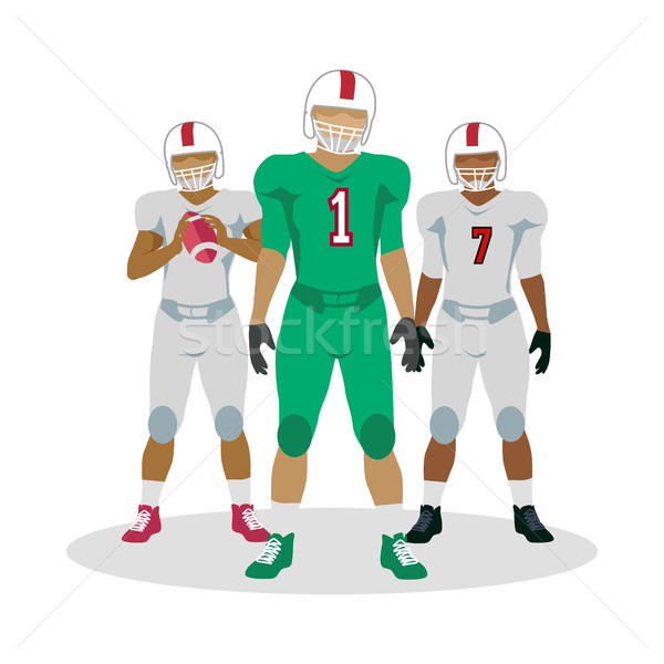 American Football Players in Equipment with Ball Stock photo © robuart
