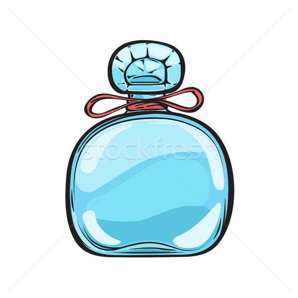 Azul vidro garrafa perfume isolado ilustração Foto stock © robuart