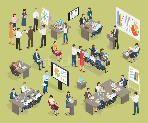 ビジネス コーチング ベクトル コレクション オフィス オフィスワーカー ストックフォト © robuart