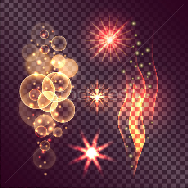 Set of Twinkle Actions on Transparent Background Stock photo © robuart