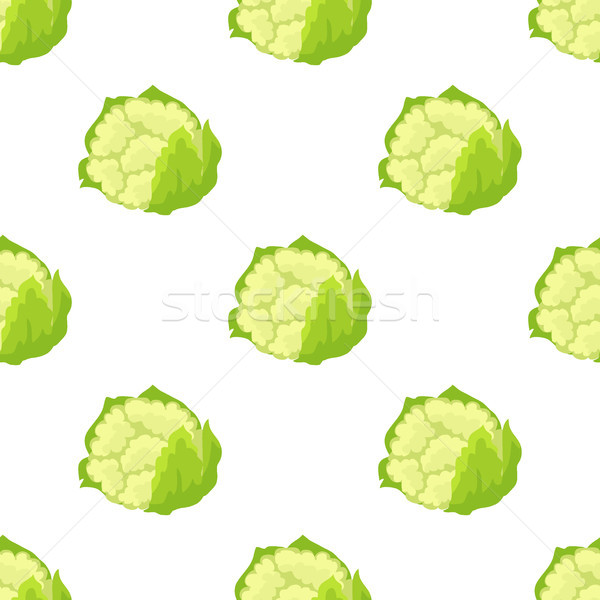 Cauliflower Isolated Seamless Endless Pattern Stock photo © robuart