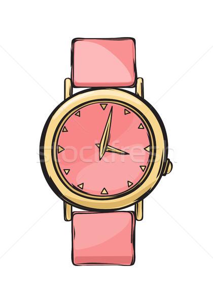 Rózsaszín pompás nők óra izolált illusztráció Stock fotó © robuart