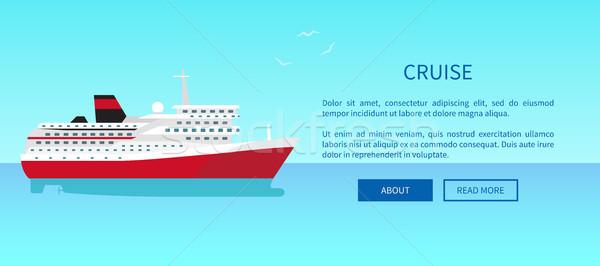 Rejs internetowych strona projektu reklama Zdjęcia stock © robuart