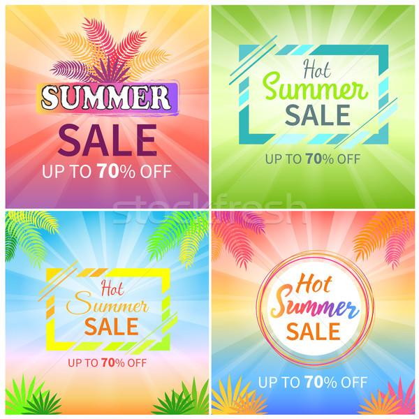 Forró nyár vásár felfelé el promóciós Stock fotó © robuart