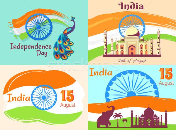 15 agosto giorno India manifesti set Foto d'archivio © robuart