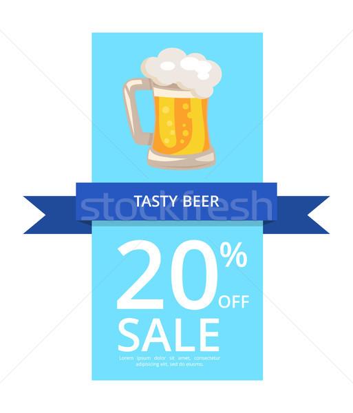 ízletes sör 20 el vásár kék Stock fotó © robuart