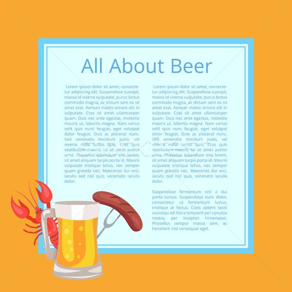 пива плакат вкусный продовольствие пить Сток-фото © robuart