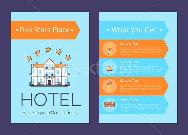 What You Get in Five Stars Place Internet Page Stock photo © robuart