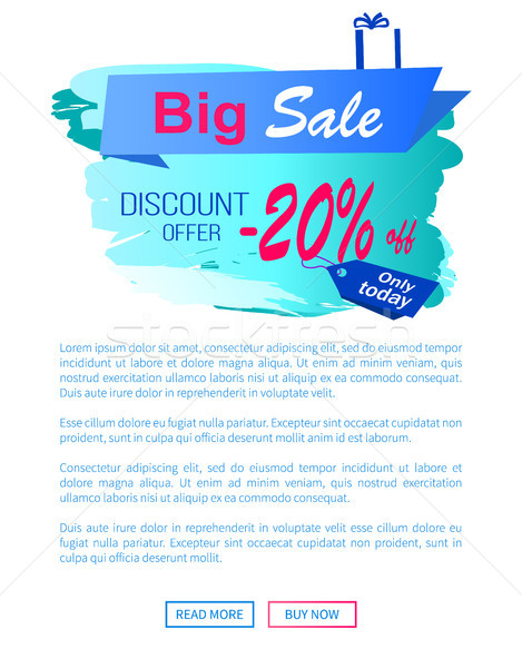 Big Sale Discount Offer -20 Vector Landing Page Stock photo © robuart