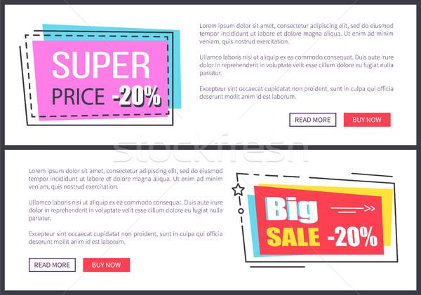 Super Price -20 , Big Sale 20 Vector Illustration Stock photo © robuart