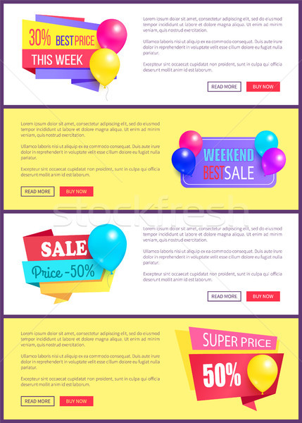 Especial descuento fin de semana venta mejor globos Foto stock © robuart