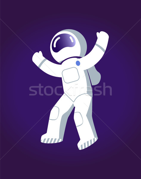Astronaut ruimte poster man klaar Stockfoto © robuart