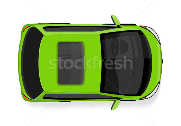 Passenger Car Top View Flat Style Vector Icon Stock photo © robuart