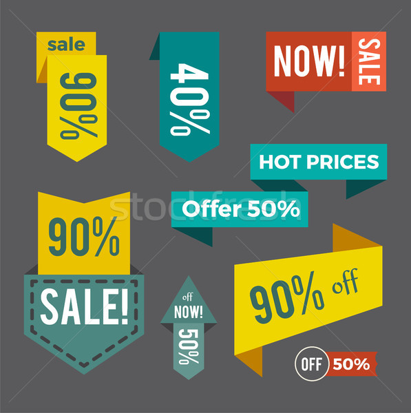 Sale Now Hot Price Offer on Vector Illustration Stock photo © robuart