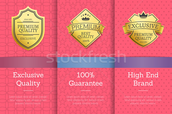 Exclusive Quality 100 Guarantee High Brand Label Stock photo © robuart