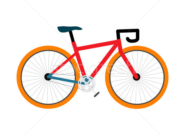 Bicycle Pedal-Driven Colorful Vector Illustration Stock photo © robuart
