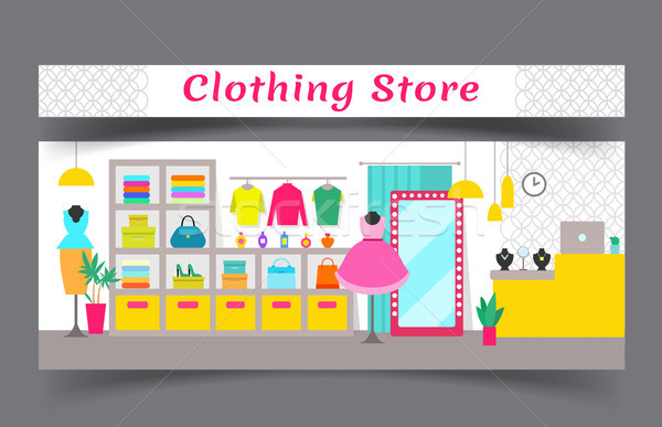 Clothing Store Composition Vector Illustration Stock photo © robuart