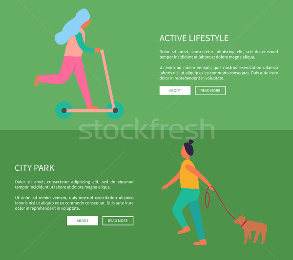 Active Lifestyle and City Park Vector Illustration Stock photo © robuart