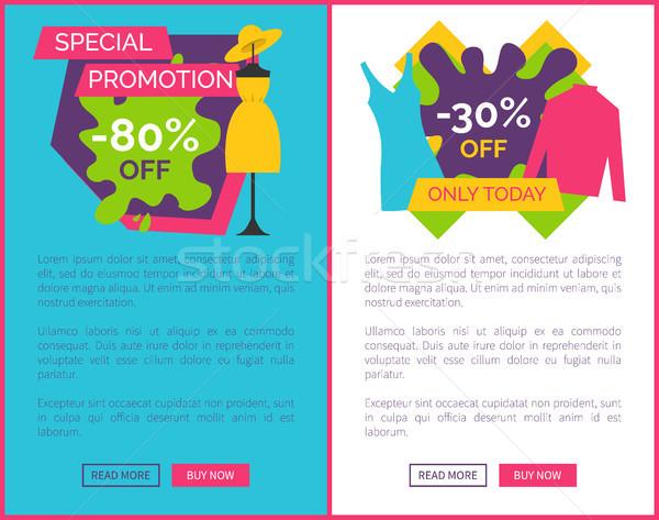 Beste prijs exclusief producten posters ingesteld jurk Stockfoto © robuart