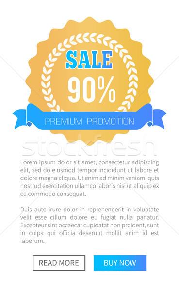 Prémium promóció vásár arany címke háló Stock fotó © robuart
