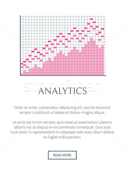 Analytics Web Site and Text Vector Illustration Stock photo © robuart