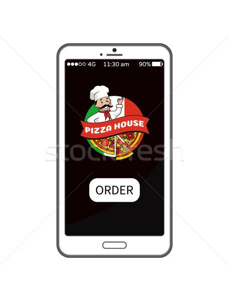 Pizza casa para móviles Screen Foto stock © robuart