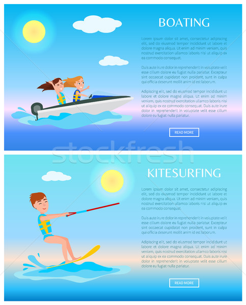 Boating and Kitesurfing, Sea Rest, Water Sports Stock photo © robuart