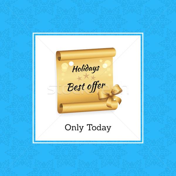 Wakacje najlepszy oferta dzisiaj plakat tytuł Zdjęcia stock © robuart