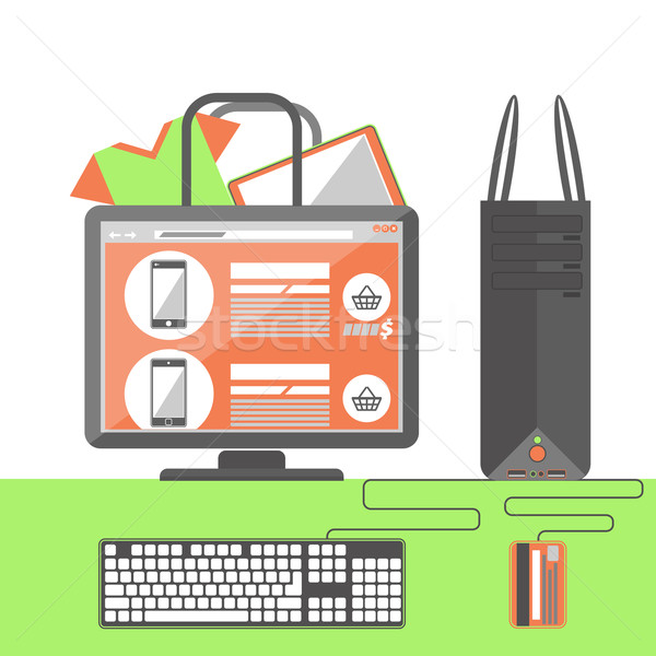 Internet shopping concept Stock photo © robuart