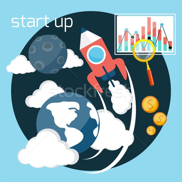 Start up rocket Stock photo © robuart